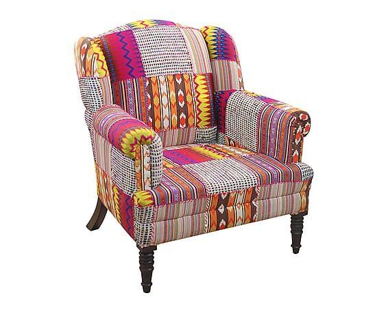 Fauteuil Down Coton Et Bois De Manguier Multicolore L85 D Co Ethnique Et Asiatique Pinterest