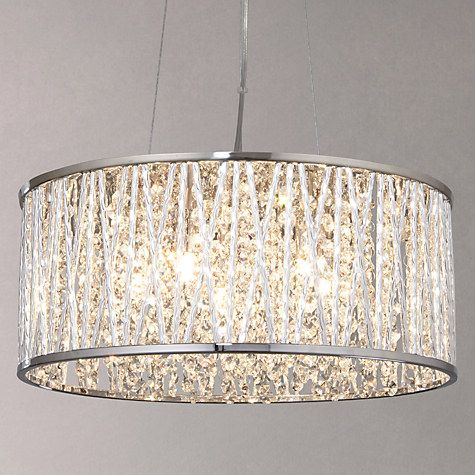 John Lewis Partners Emilia Large Crystal Ceiling Light Chrome