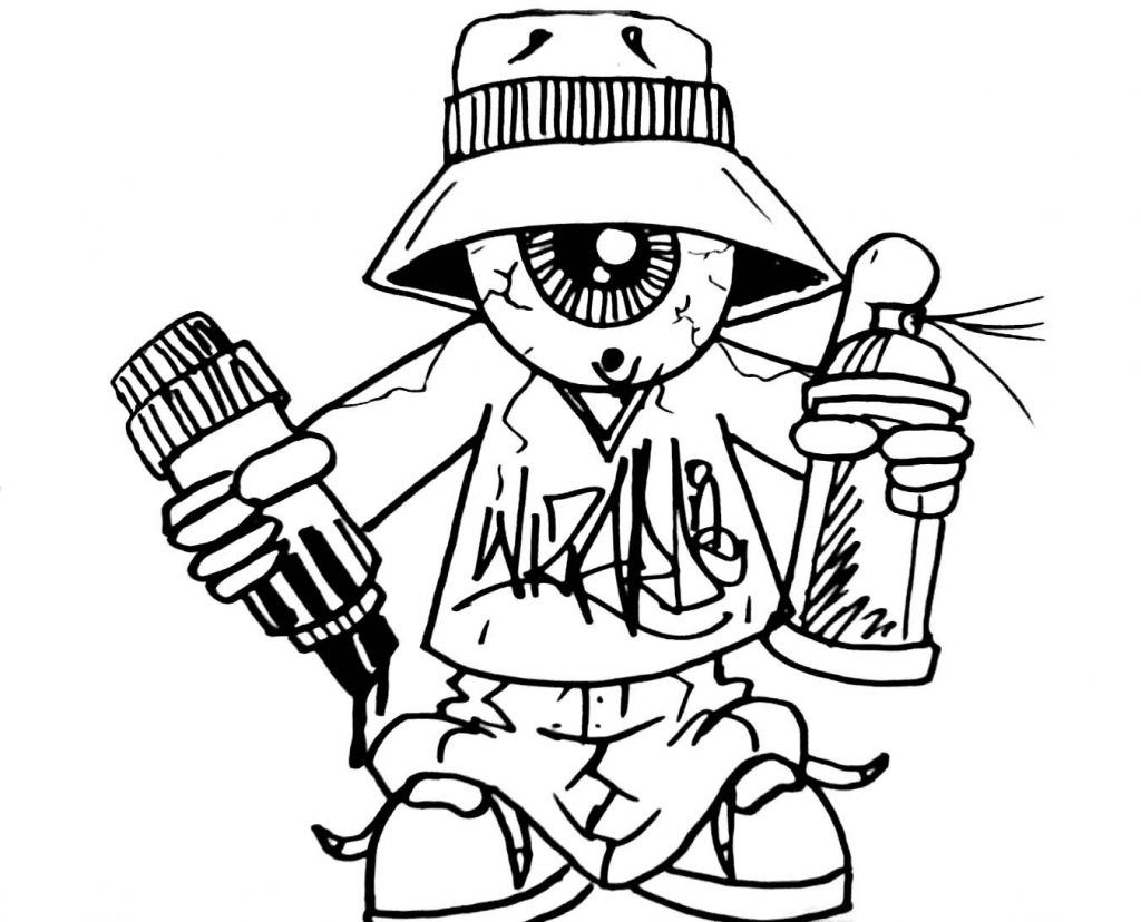 Graffiti Coloring Pages For Teens And Adults Best Coloring Pages For Kids Graffiti Characters Coloring Book Art Graffiti Drawing
