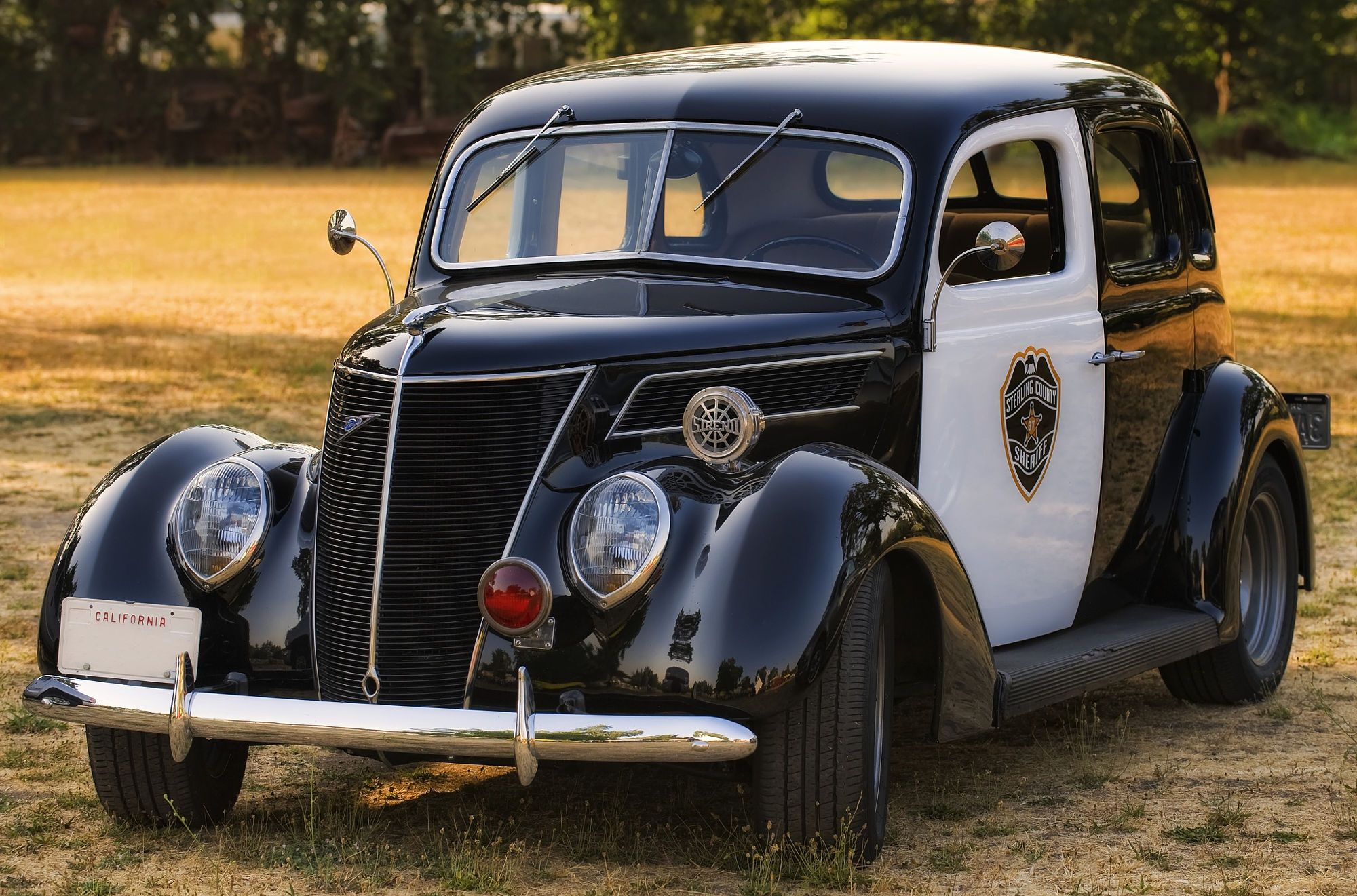 1937 Ford Police Car by Richard  Small