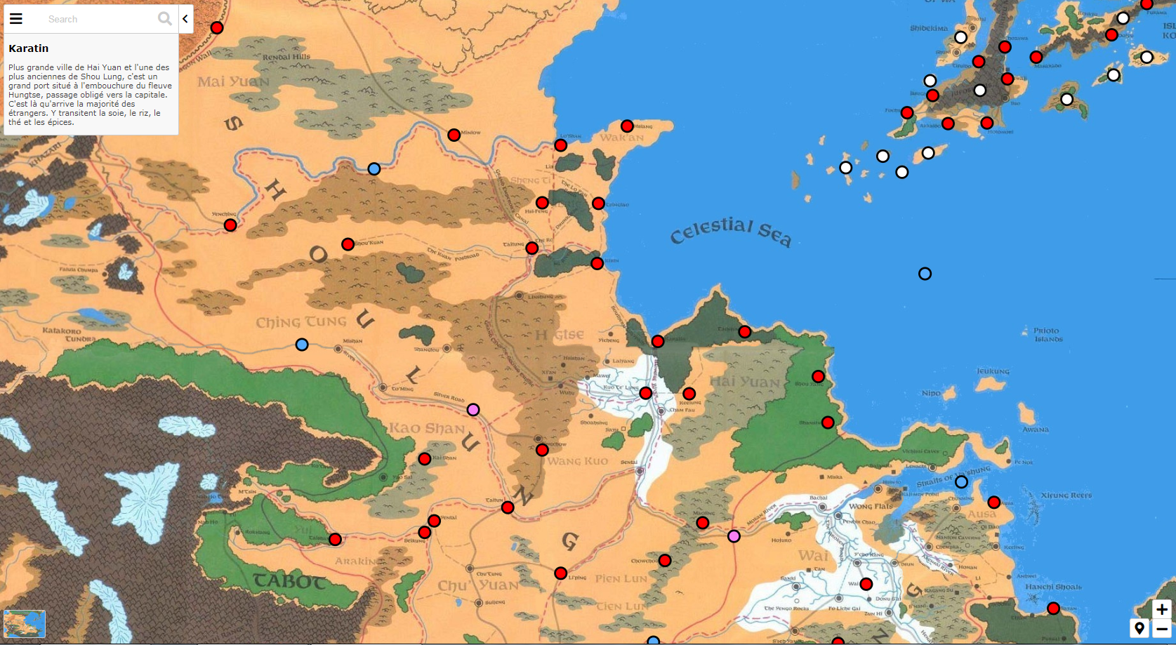 Kara-Tur D&D Interactive Map   Forgotten Realms Maps in 2019   Map ...