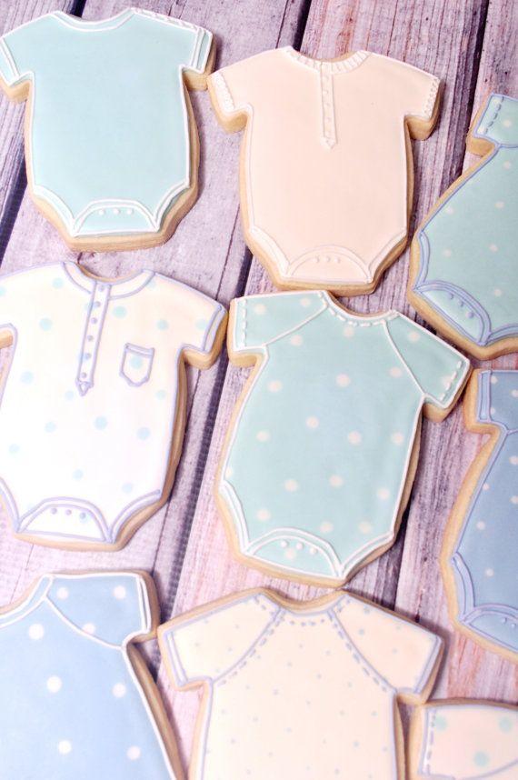 Gran bebé Onesie Cookies 1 docena Cookie Favor por MarinoldCakes