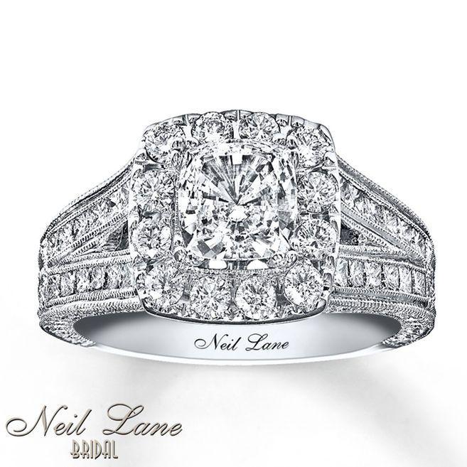 Kay Neil Lane Engagement Ring 2 ct tw Diamonds 14K White Gold