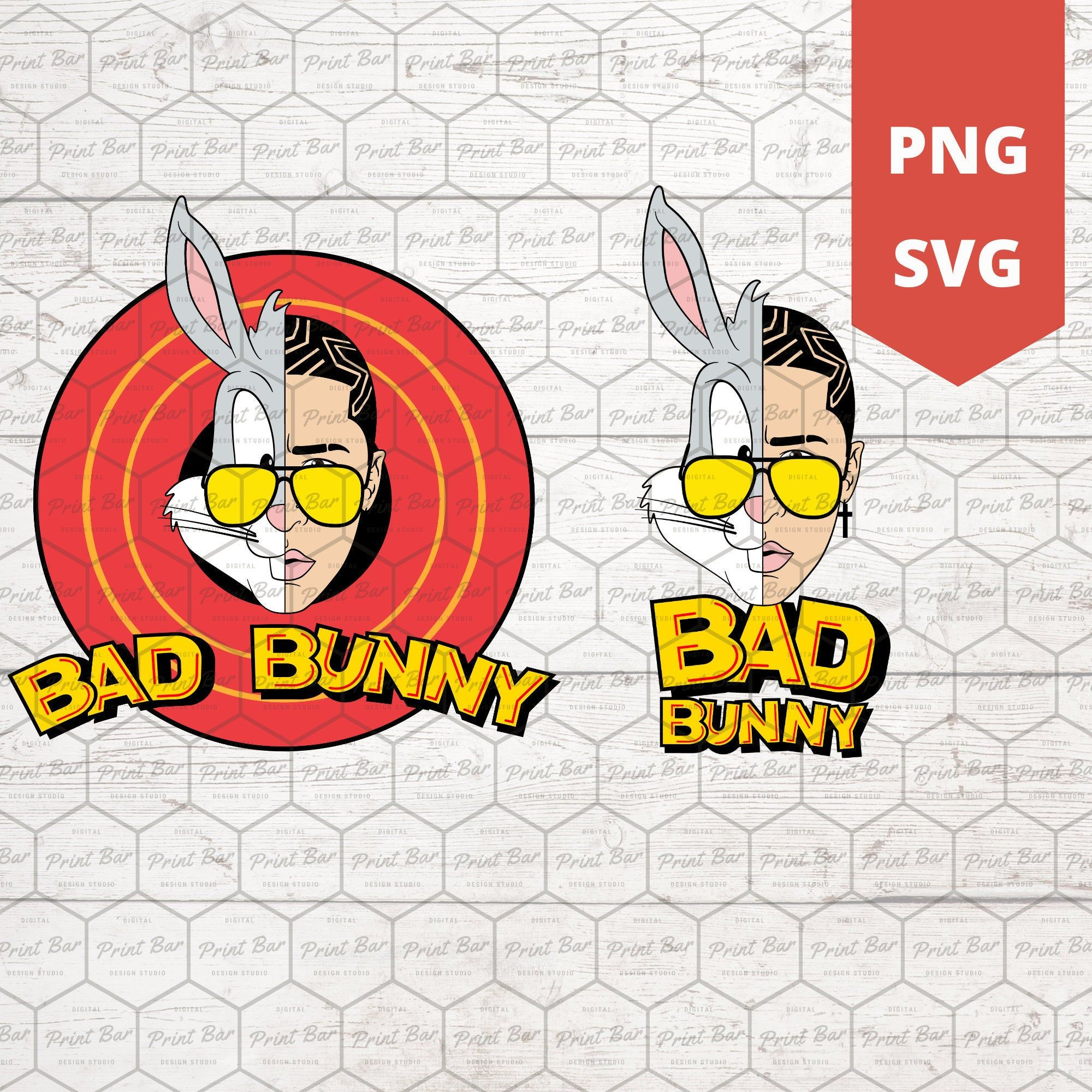Bugs Bad Bunny Svg Png Etsy In 2021 Bunny Svg Bunny Drawing Bunny Birthday Theme