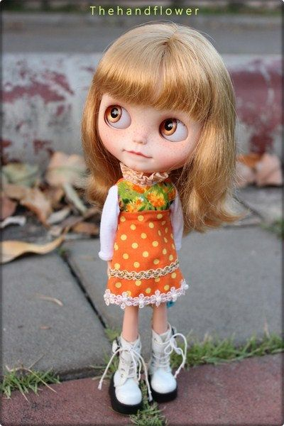 OOAK Custom original Takara Blythe doll by Thehandflower on Etsy