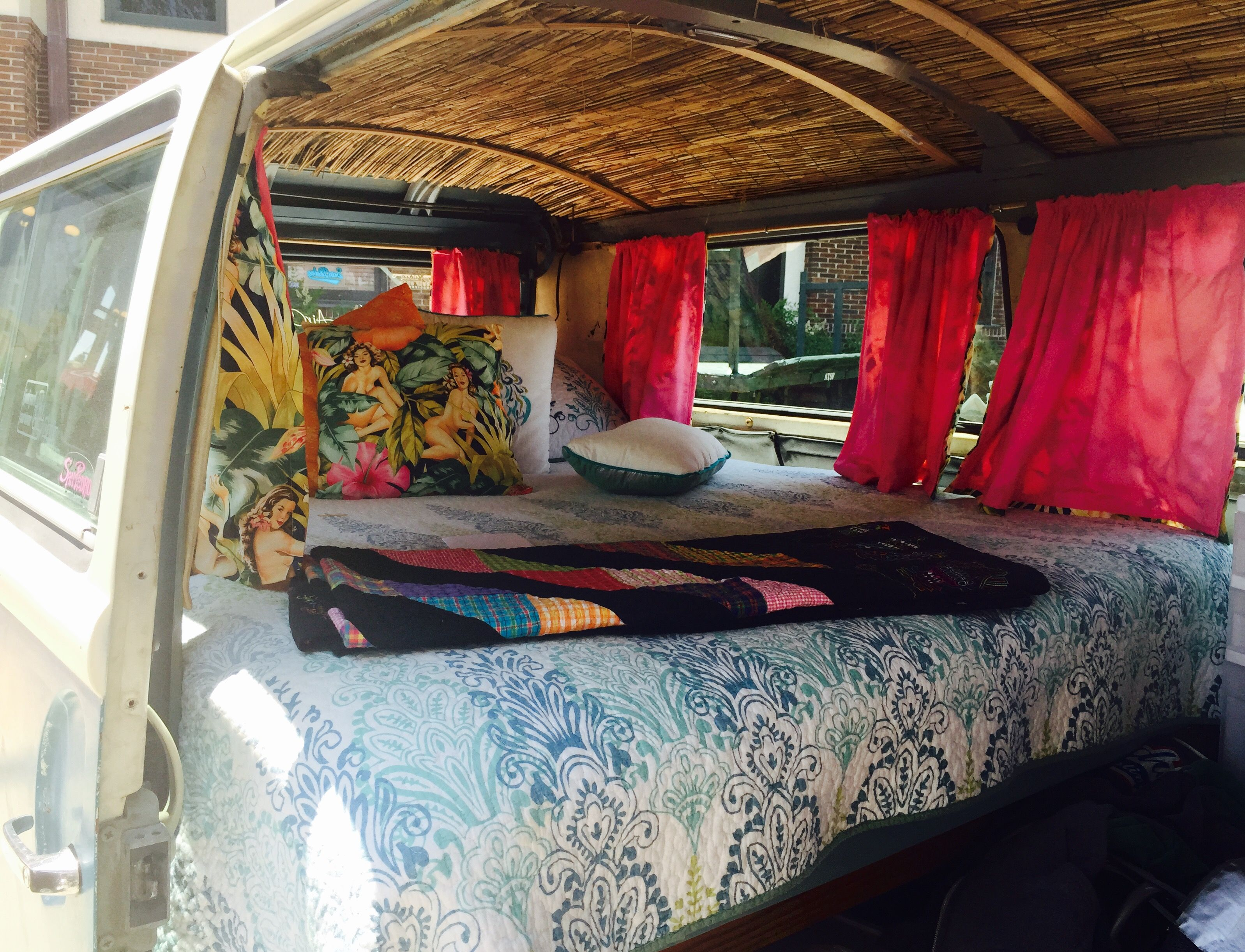 Volkswagen Bus Interior From The Temple Tx Volkswagen Show Love The Tropical Theme And Bamboo