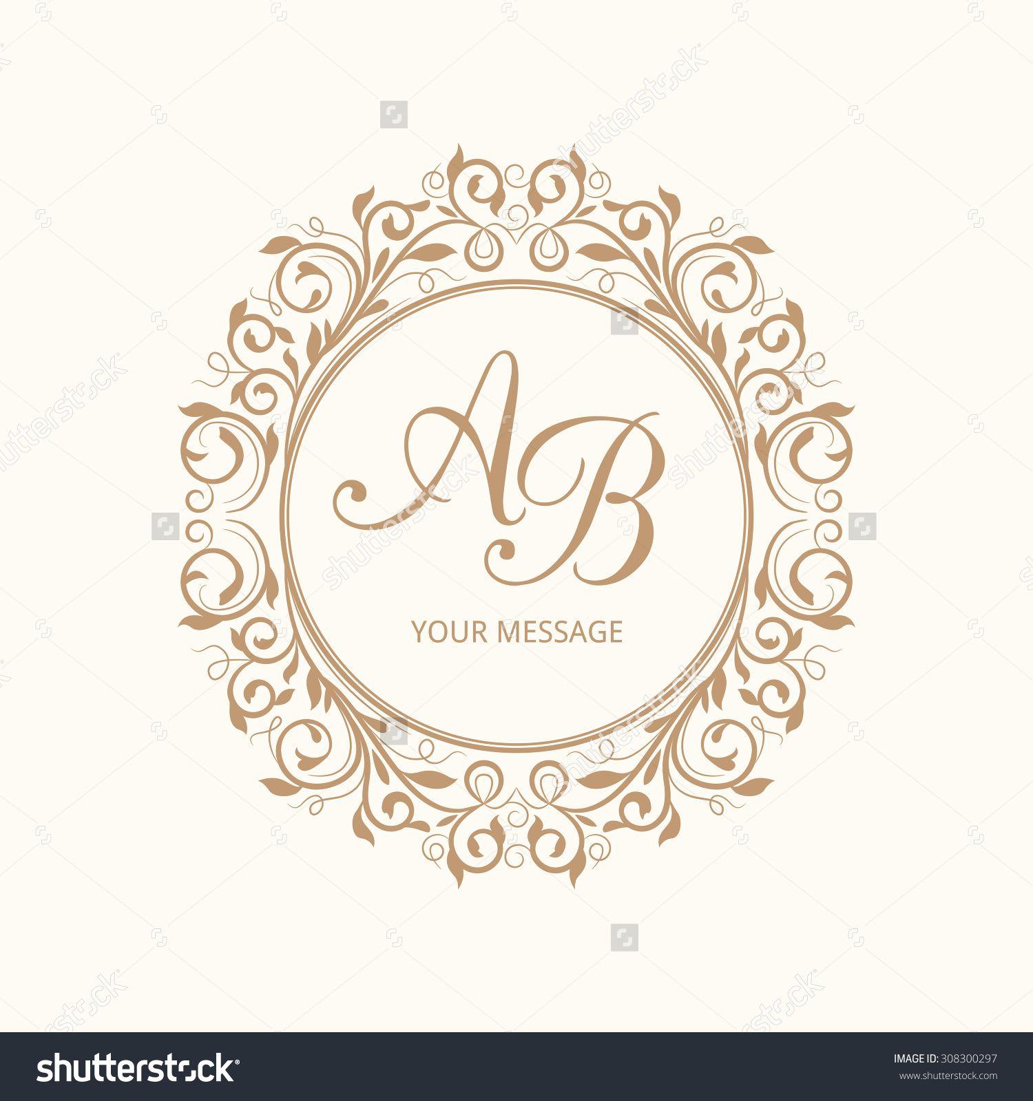 Wedding Monogram Calligraphic Elegant Ornament Vector Ilration Best Free Home Design Idea Inspiration