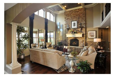 Princeton by Drees Homes at Red Stone Village. Great room! Stone ...