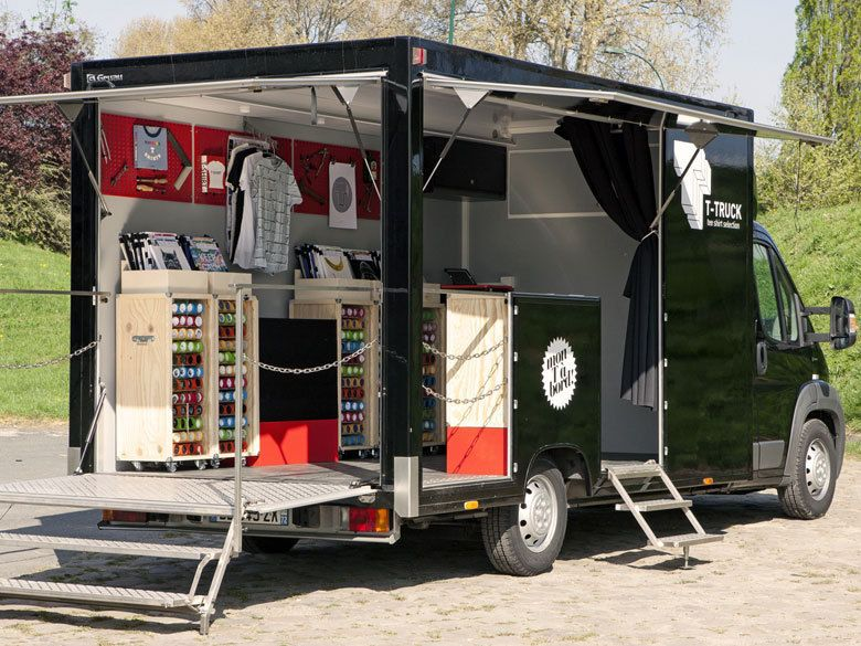 Image result for box van converted into a mobile fashion