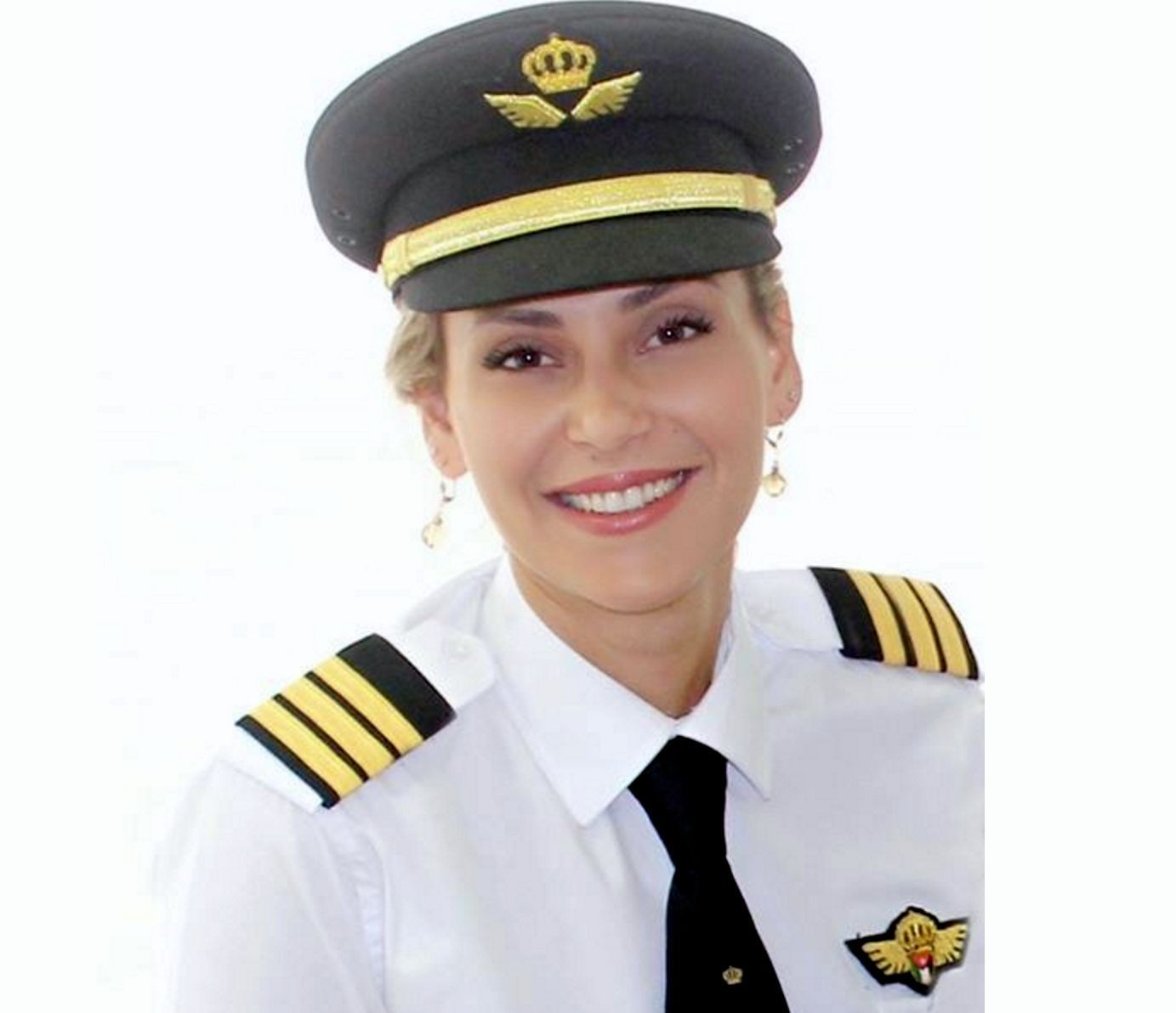 Alia Twal, a first officer who flies for Royal Jordanian Airlines