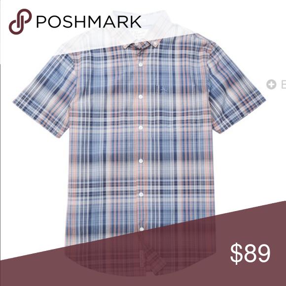 🆕MEN: Penguin Plaid 100% Cotton Mini Collar Heritage Classic Fit Machine Washable Imported; Penguin Plaid Original Penguin Shirts Casual Button Down Shirts