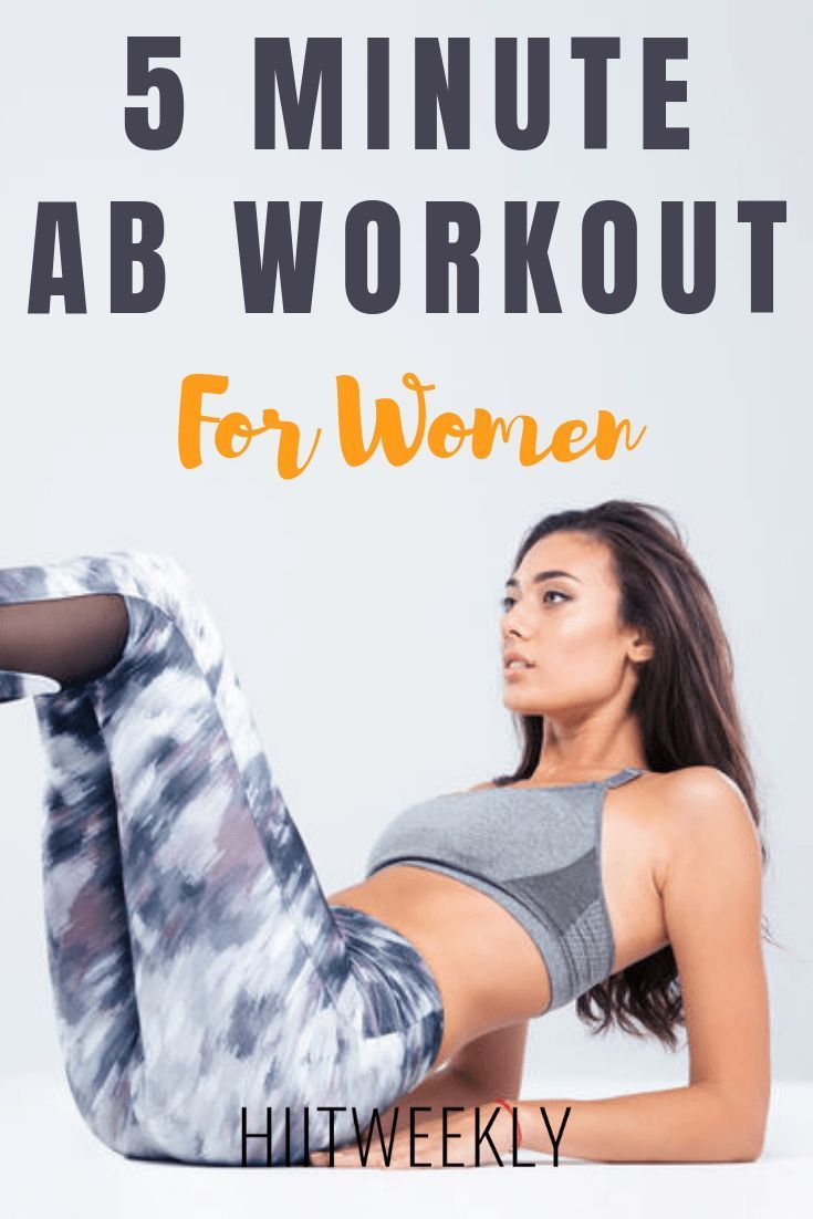 Get flat toned abs with this super quick 5 minute ab workout for women using a mix of exercises to w...