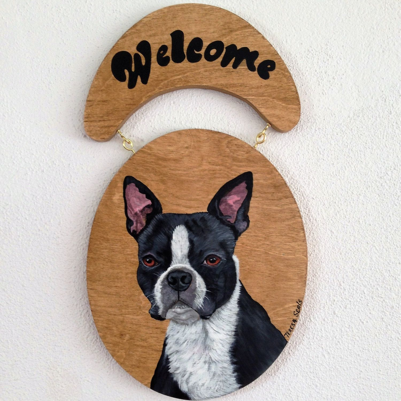 Welcome Signboston Terrier Welcome Signboston Terrierdog Welcome