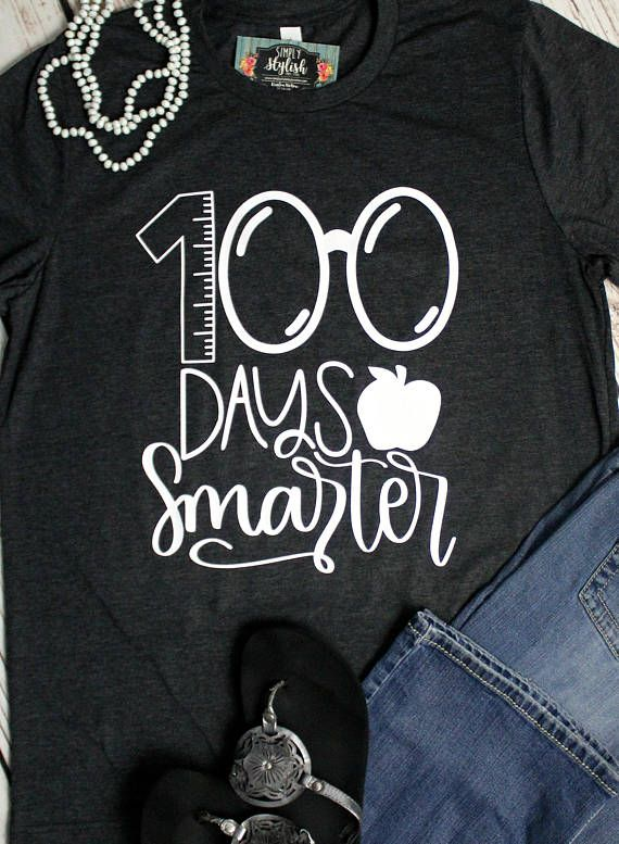 Happy 100th Day of School T Shirts, 100th Day Teacher Shirt, 100 Days Smarter, Teacher 100 Days, Teacher Shirts, Gift for Teacher #100thdayofschool