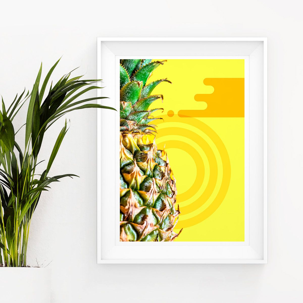 Pineapple Printable Art, Memphis Design, Photography Poster ...