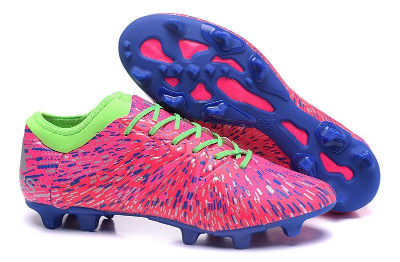 adidas chaussures de foot x fg ag nouvelles crampons rose violet vert