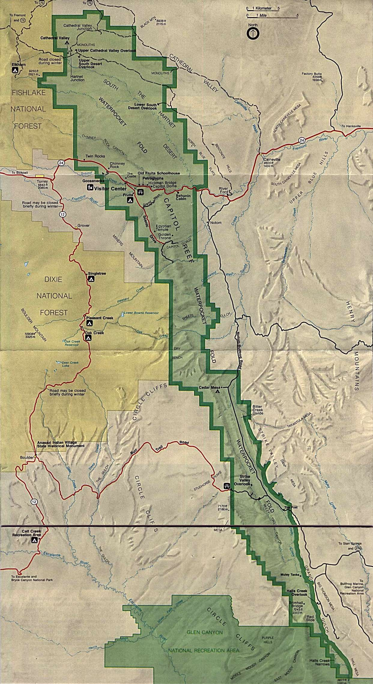 Capitol Reef National Park Map Page   Capital Reef National ... on yucca house national monument map, roosevelt park north dakota map, little bighorn battlefield national monument map, sequoia national park map, bryce canyon map, lake clark national park and preserve map, valley of fire state park map, kings canyon national park map, dead horse point state park map, hickman bridge capitol reef map, organ pipe cactus national monument map, lake powell map, monument valley map, chaco culture national historical park map, denali national park and preserve map, zion park shuttle map, u.s. capitol map, hawaii volcanoes national park map, canyon de chelly national monument map, canada national parks map,