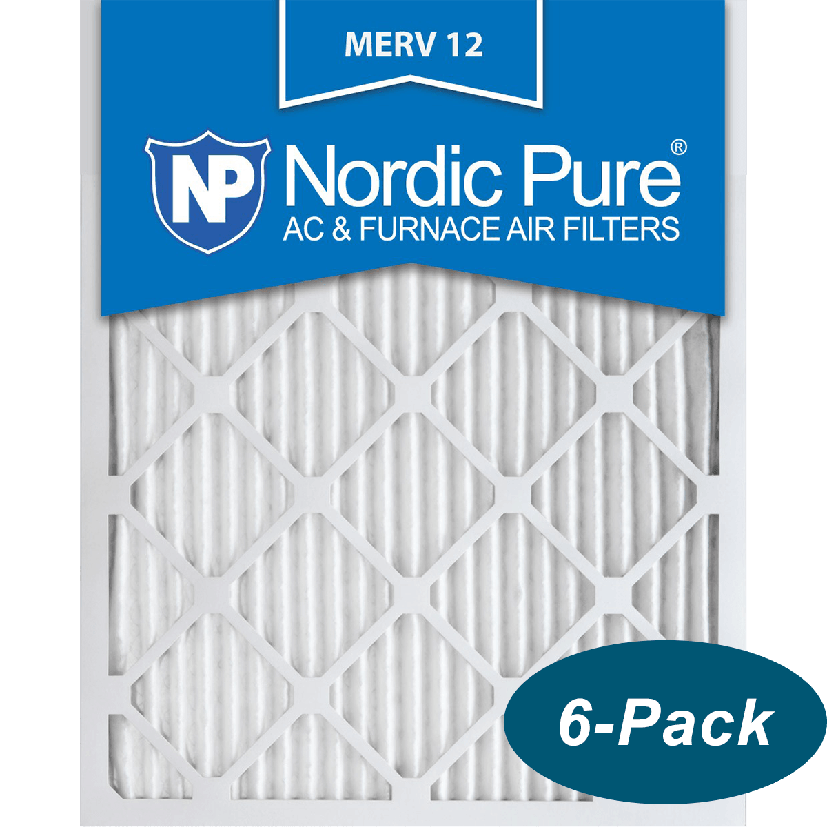 Nordic Pure 20x25x1 Pure Carbon Pleated Odor Reduction AC