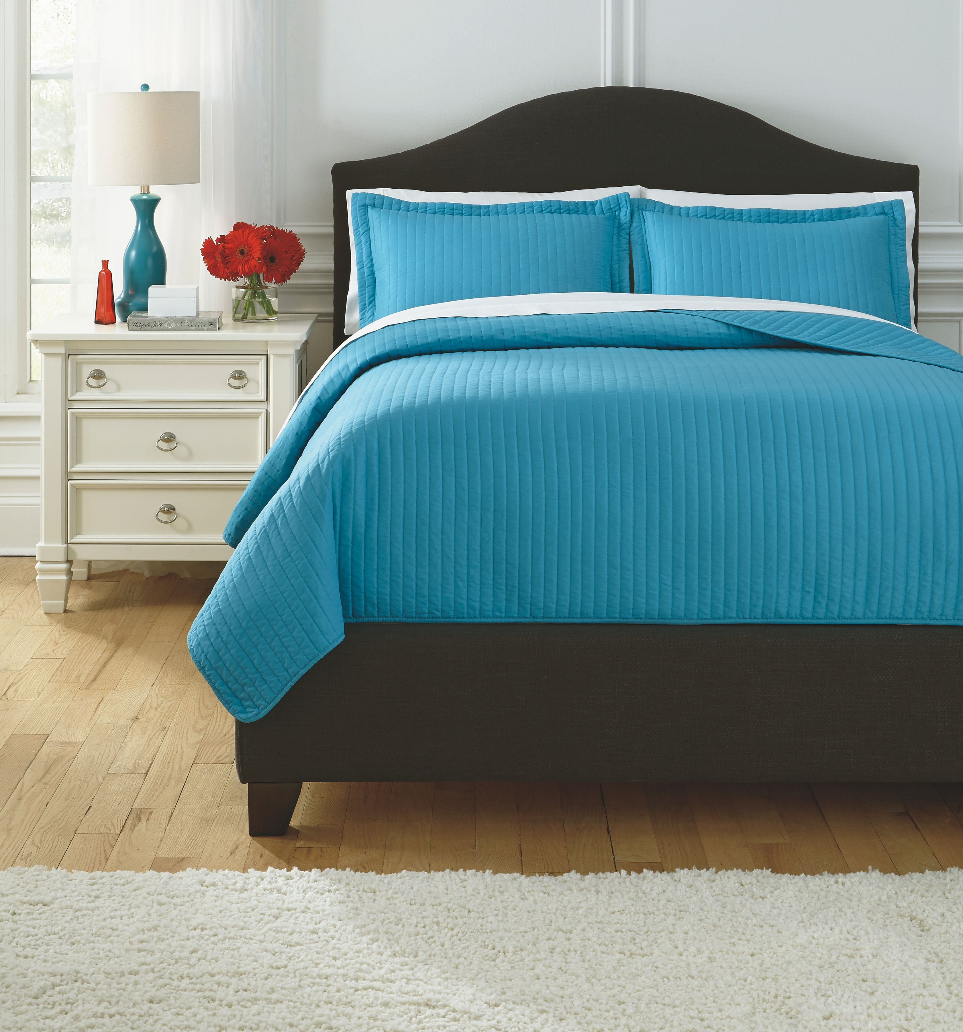 Raleda 3Piece Queen Coverlet Set, Turquoise King