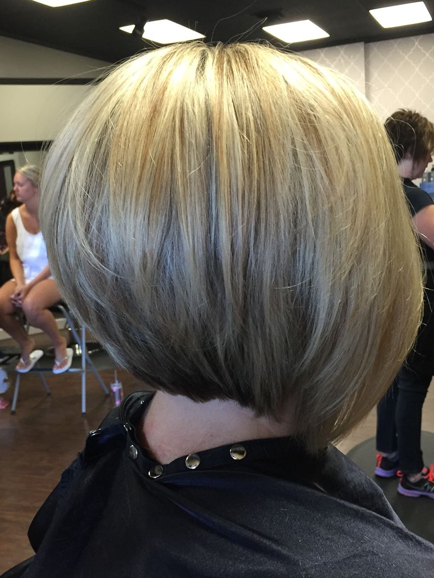 Fashion style Appropriate Work stacked bob haircuts for girls