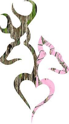 cc3cb6d4a50 so cute! Deer Heart Boy Girl Mossy Oak Realtree Pink Camo Decal 6