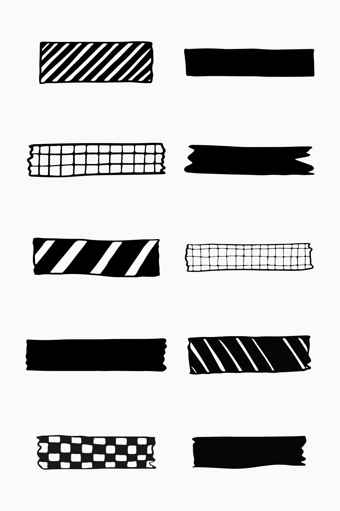 Download Premium Vector Of Collection Of Washi Tape Vectors 2100812 In 2020 Bullet Journal Stickers Journal Stickers Bullet Journal Writing