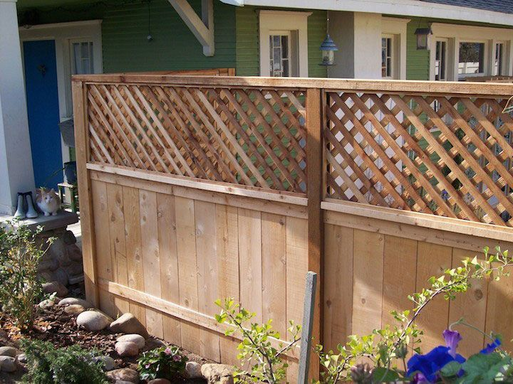 Add Lattice To Extend Height Of Privacy Fence.: Privacy Fence