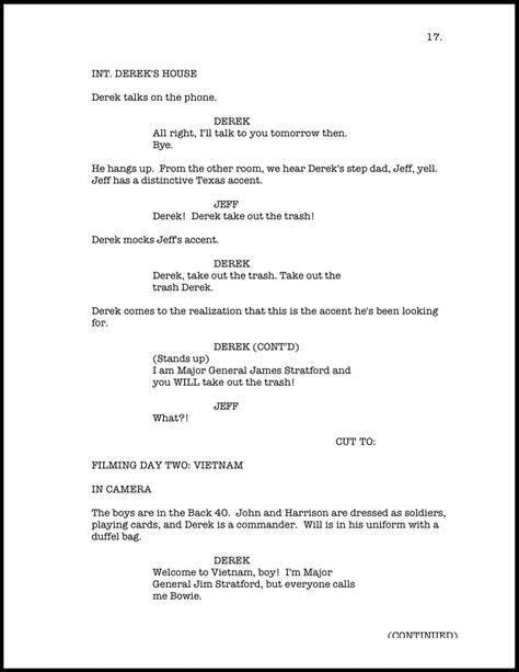 Screenplay formatting   Screenplay format   Screenplay