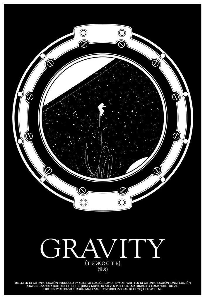 Gravity  Movie Poster  Christian Petersen  Seventh Art