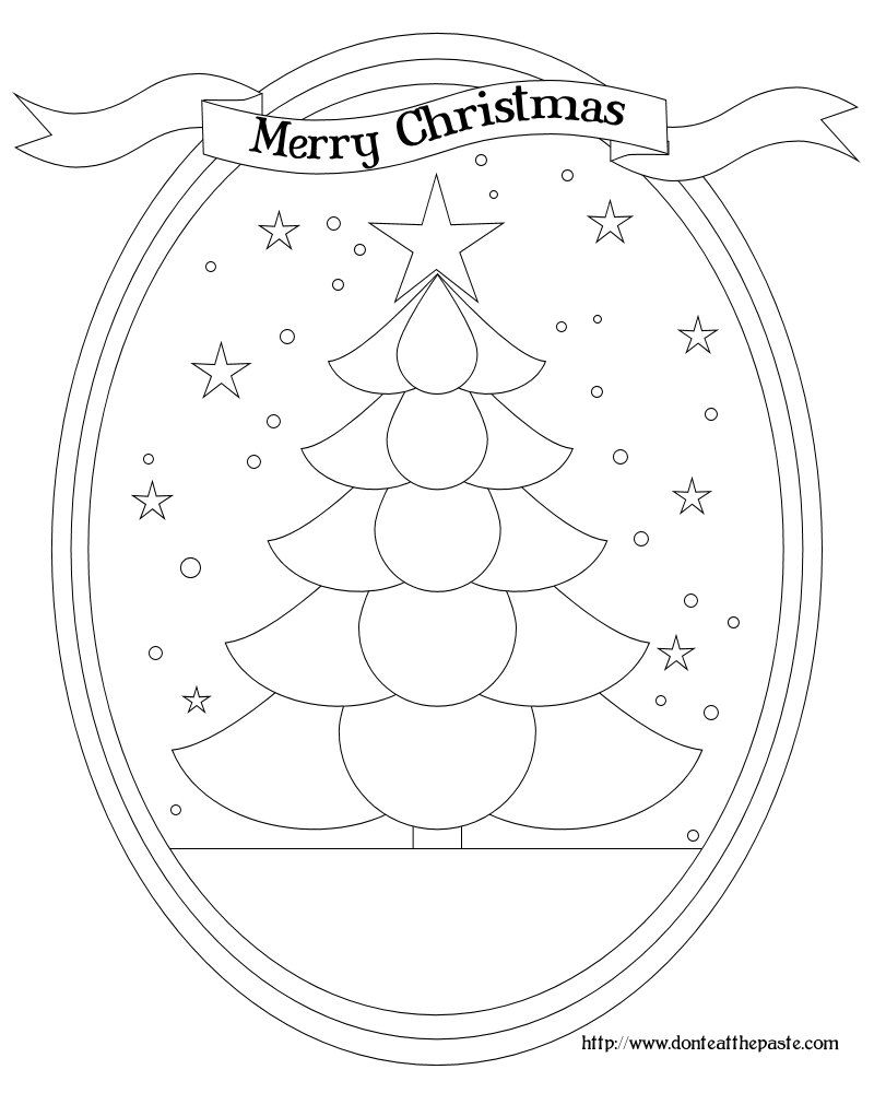 christmas tree box and coloring page