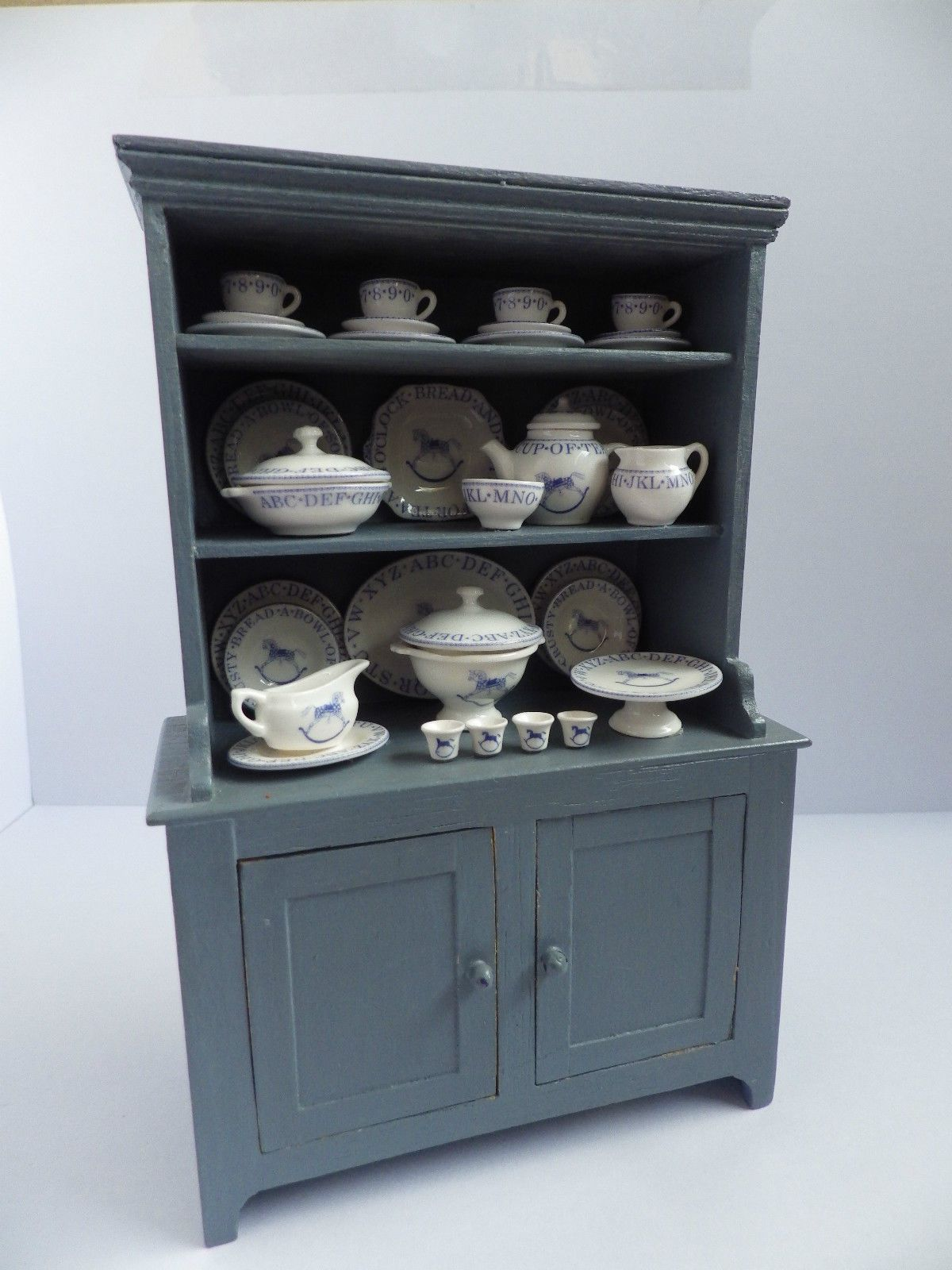 wedgewood blue small dresser artisan made & signed contents NOT