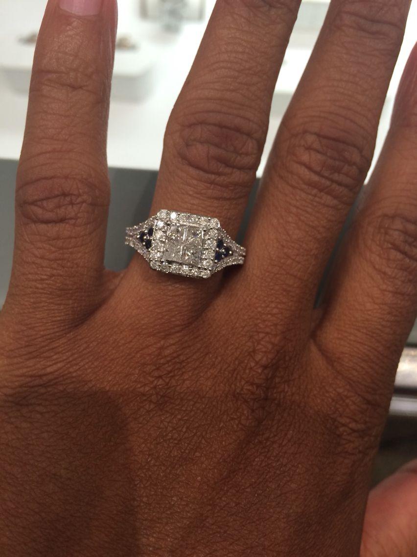 ab165d32c862 10k WG 1 cttw diamond and sapphire