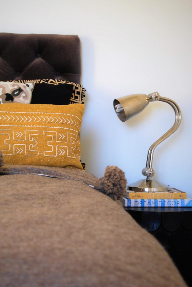 Cushion of the week mustard mudcloth from yonderliving