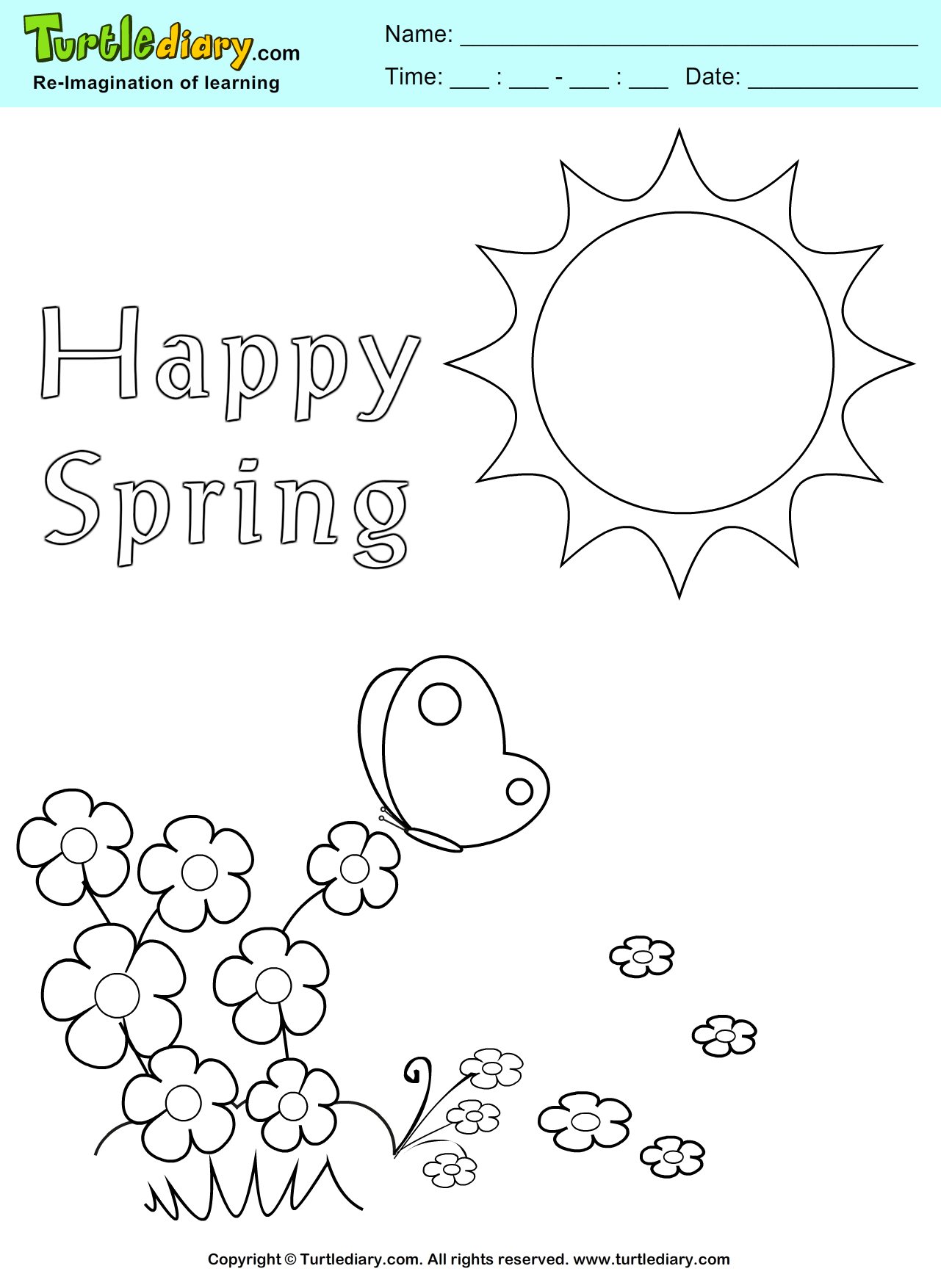 Happy Spring Coloring Page Coloring Sheet Spring Coloring Pages Coloring Pages Happy Spring
