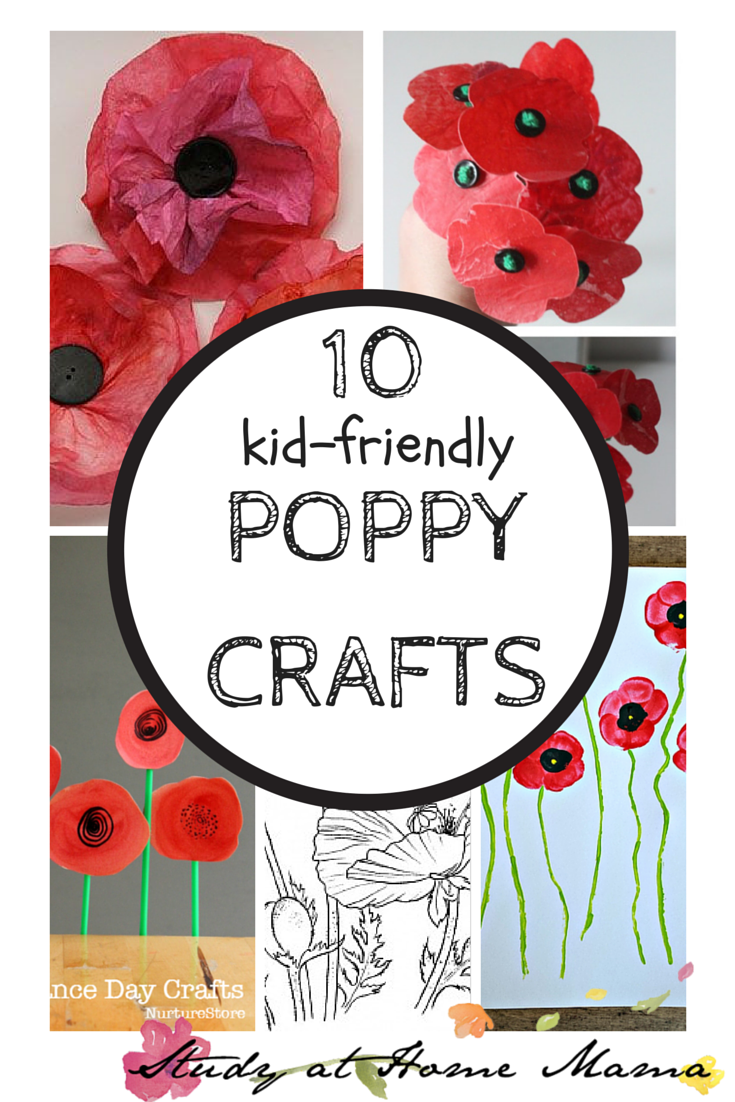 10 Poppy Crafts for Remembrance Day Remembrance day art
