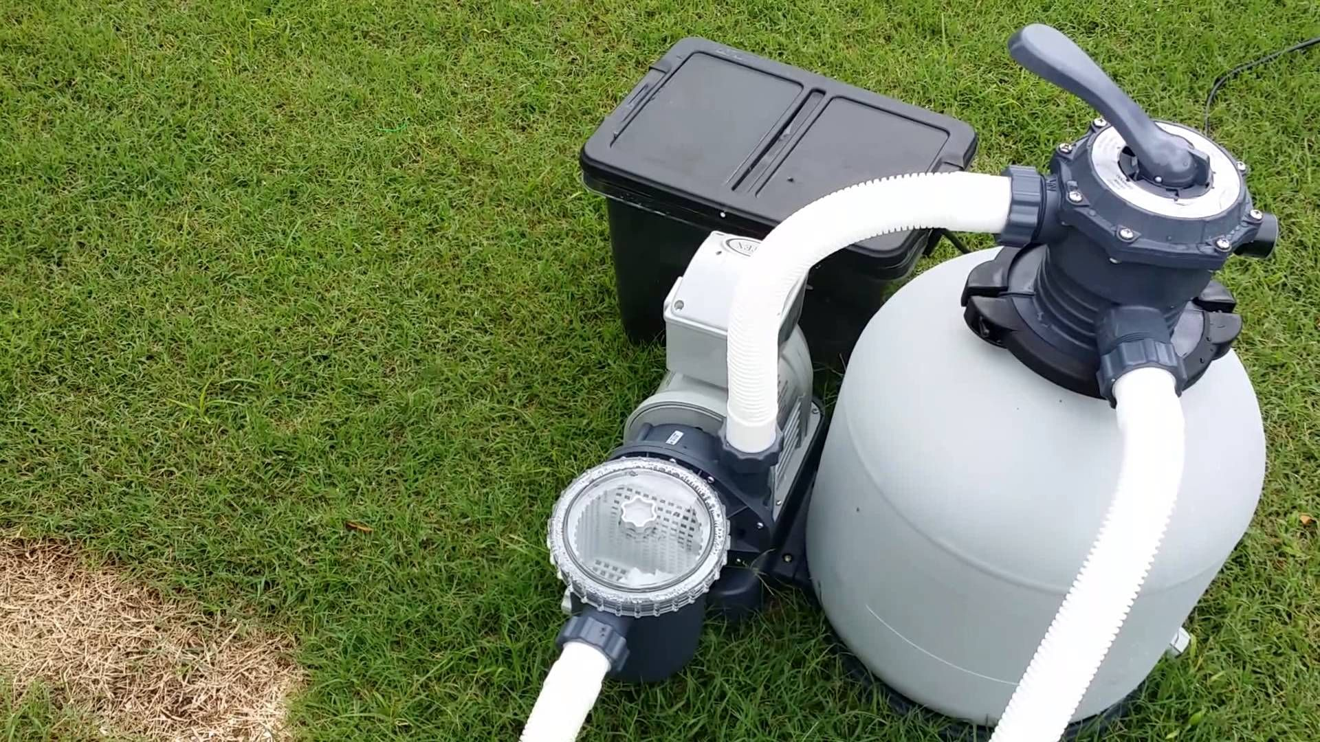 Upgraded Above Ground Pool Pump Sand Filter Pool Bath