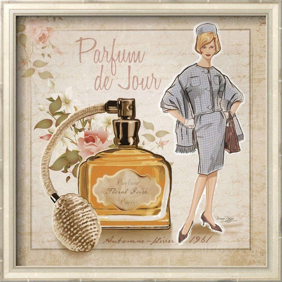 Открытка, парфюмерная на открытках