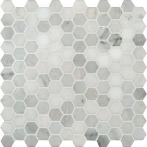 MS International Greecian White Hexagon 12 in x 12 in x 10 mm