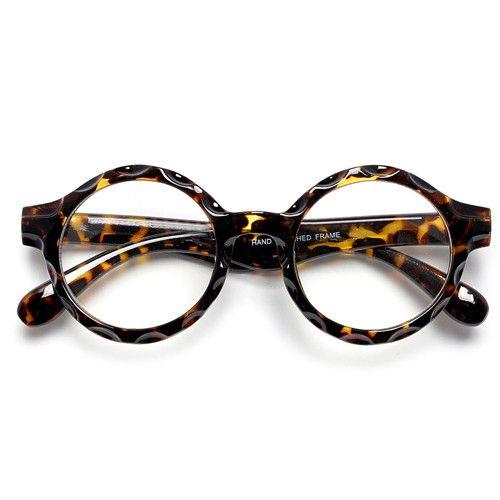 e03c45641662 Retro Round Clear Lens Bottle Cap Frame Glasses – Sunglass Spot