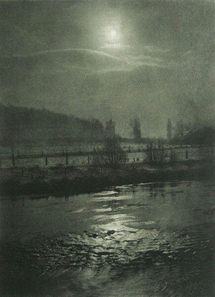 Hugo Buchner, Germany : Mondnacht. 1898