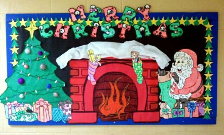 Christmas board I did last year! #christmas #bulletinboard ...