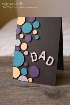 Cards With Circles On Pinterest Handmade Cards Circles And