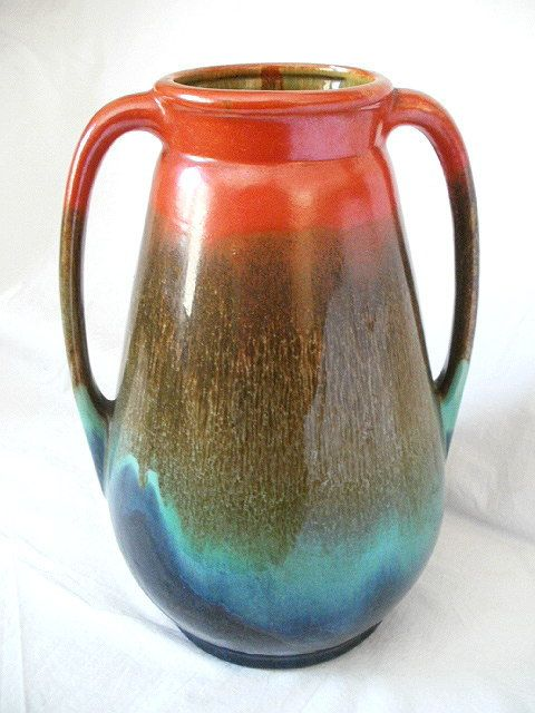Large 1939 Stangl Art Pottery 2 Handled Vase by ourtimecapsule, $250.00
