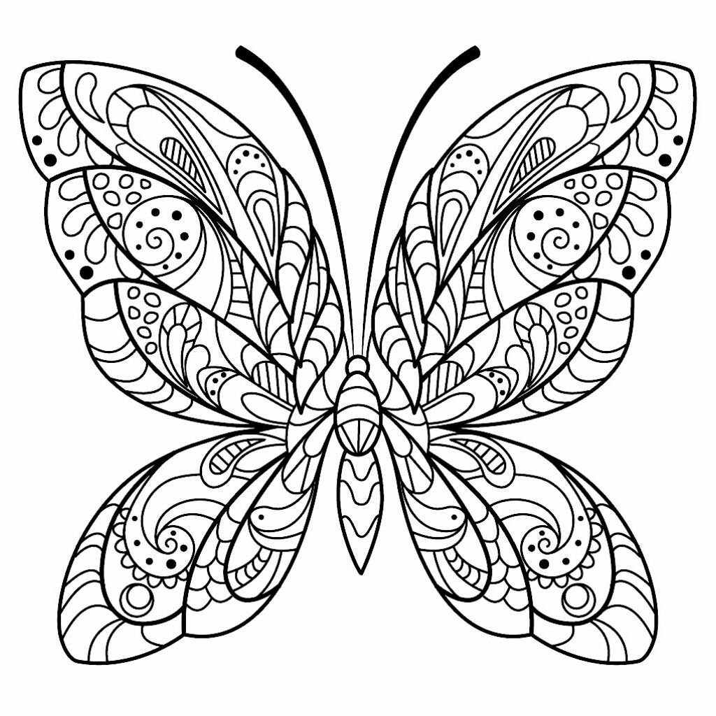 Pin By Deborah Whitwell On Coloring Pages Such Butterfly Coloring Page Mandala Coloring Pages Mandala Coloring [ 1024 x 1024 Pixel ]