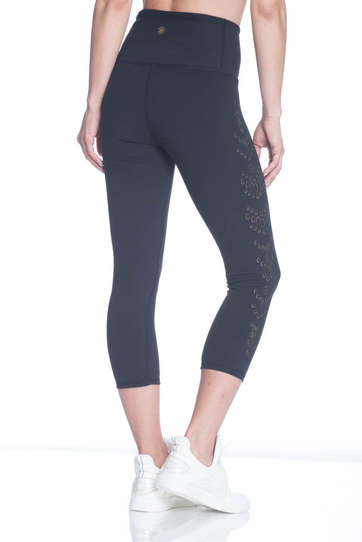 7622f536e8a60 Gaiam Womens Om High Rise Yoga Capri Performance Spandex Compression  Legging Black Tap Shoe Medium ** For more information, visit image link.
