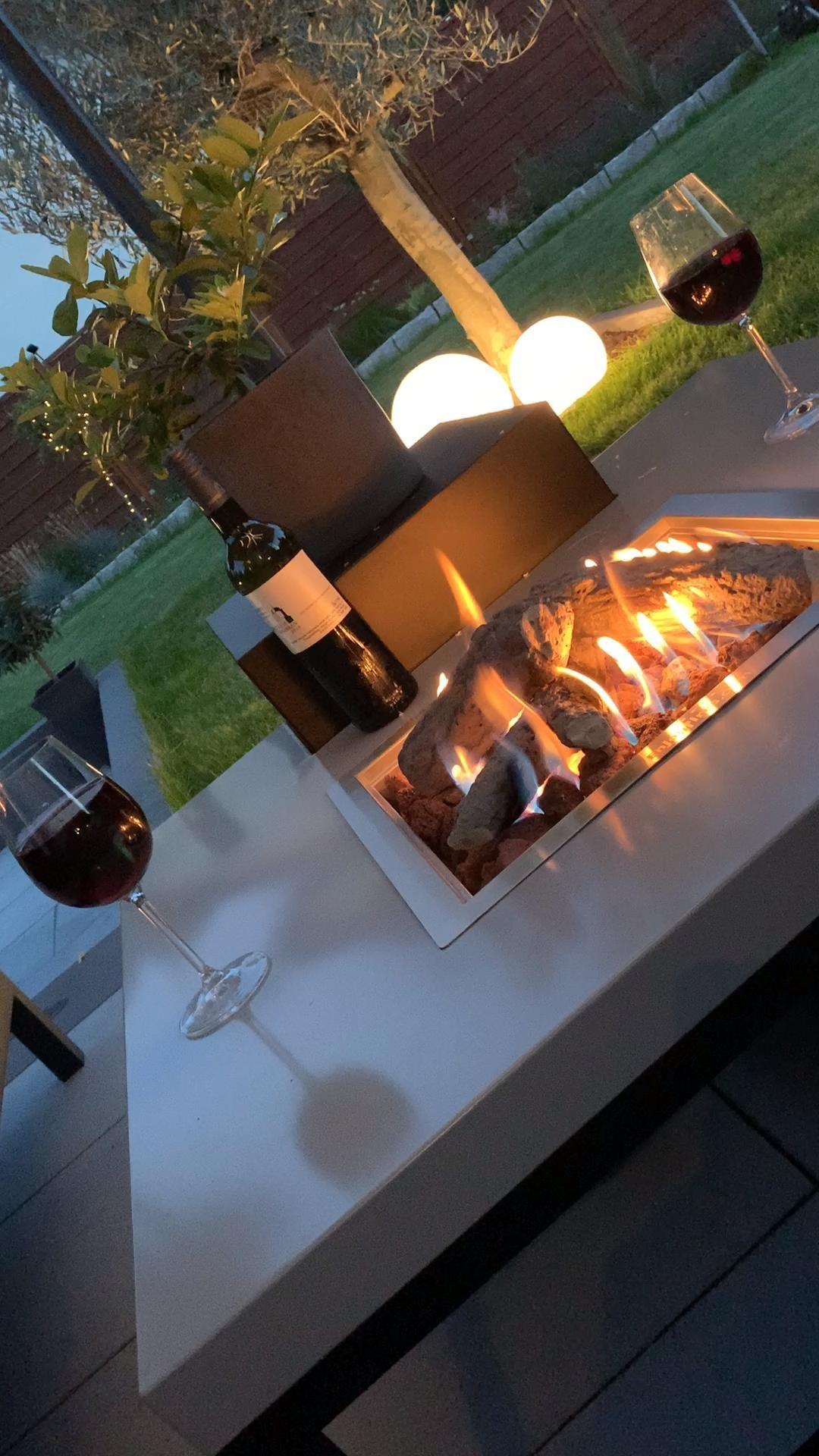 Propangas Feuertisch für Terrasse und Garten