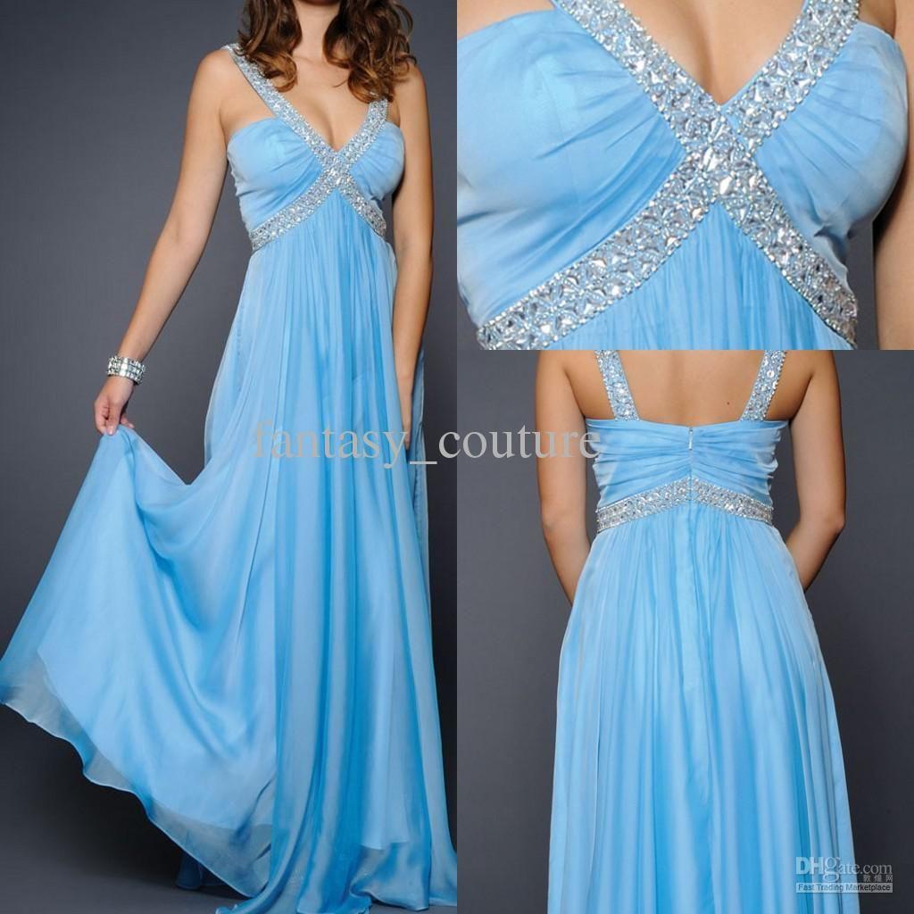 Light Blue Chiffon Bridesmaid Dresses Floor Jpg 1024
