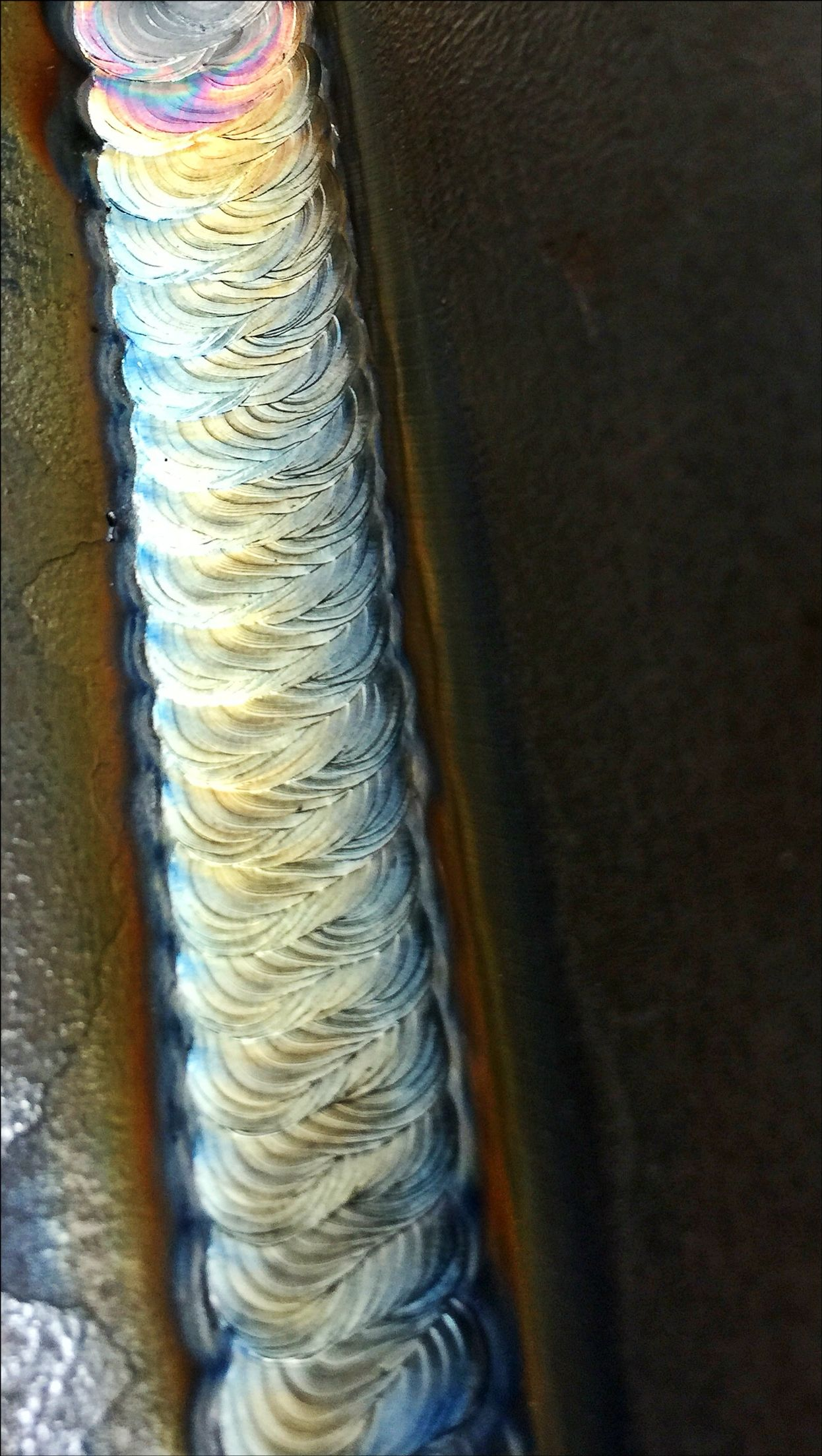 unbelievable tig weld on cast looks like a braid beautiful tig welding hand