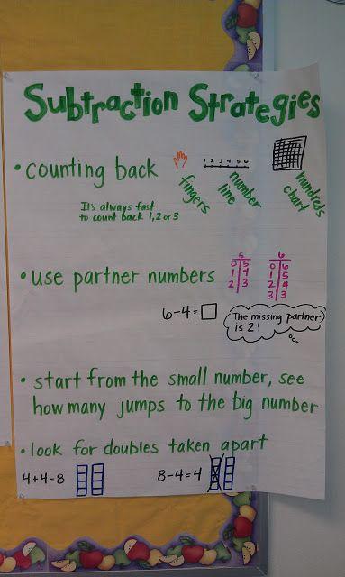 Subtraction strategies st grade math kindergarten nd class classroom also best anchor charts addition and images rh pinterest