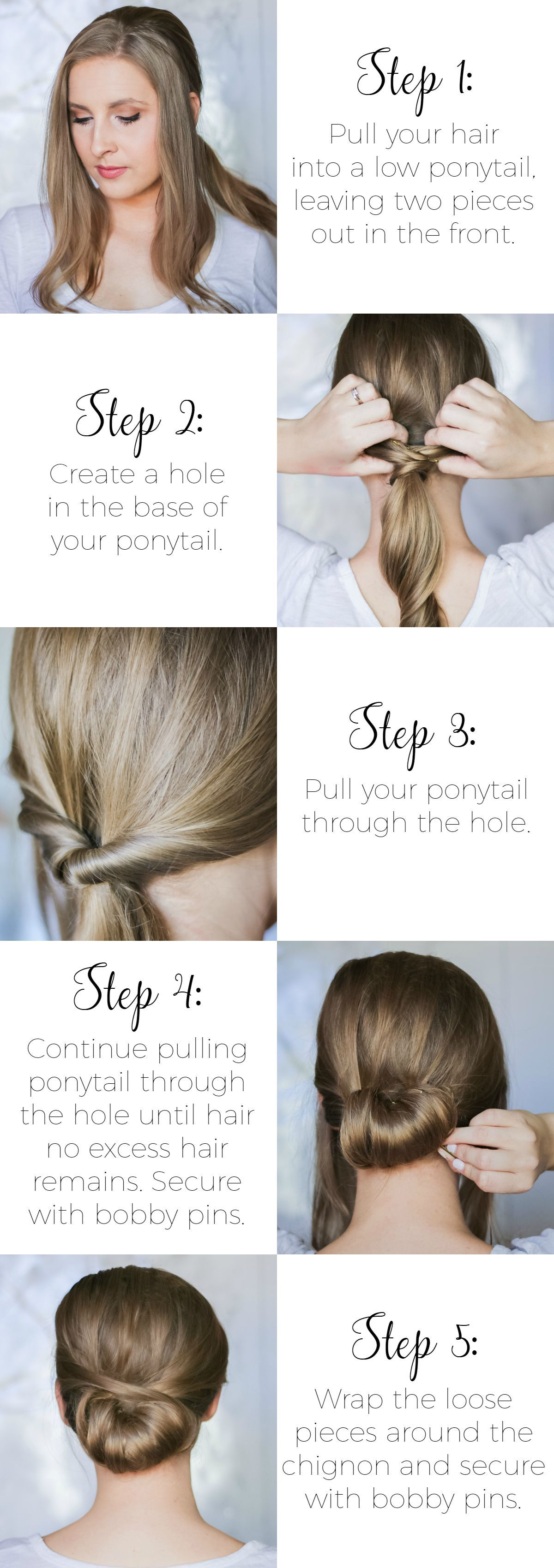 Easy secondday hairstyle tutorials hairstyles pinterest easy
